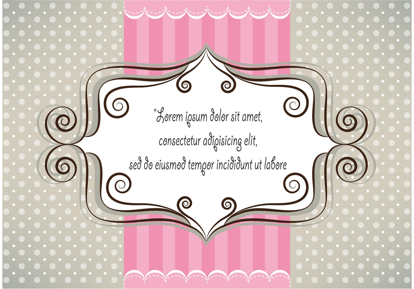Sweet Cute Couple Wallpaper Lovely Pink And Gray Card Design Download Free Vector