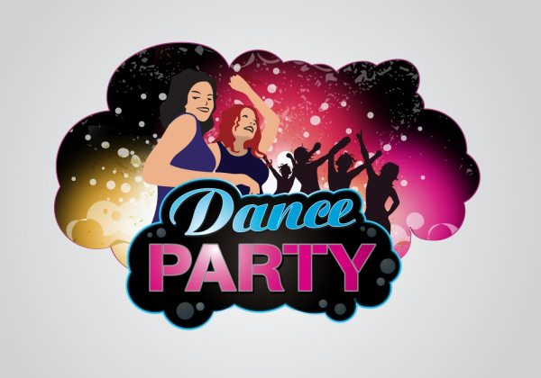 Dance Party Logo - Free Vector Art Stock