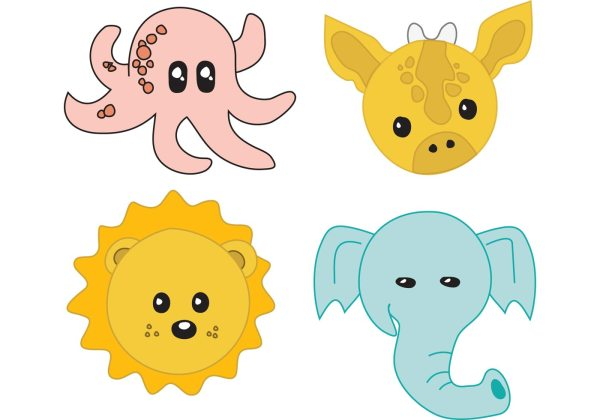 Baby Animals - Free Vector Art Stock Graphics