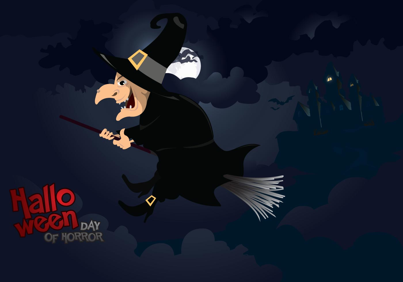 Cute Halloween Bat Wallpaper Halloween Witch Download Free Vector Art Stock Graphics