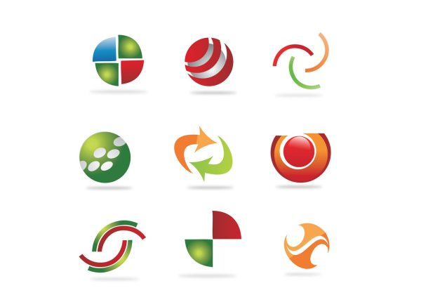 Free Abstract Logo Elements - Vector Art