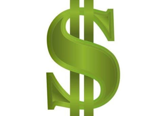 رمز علامة الدولار,Dollar sign Vector