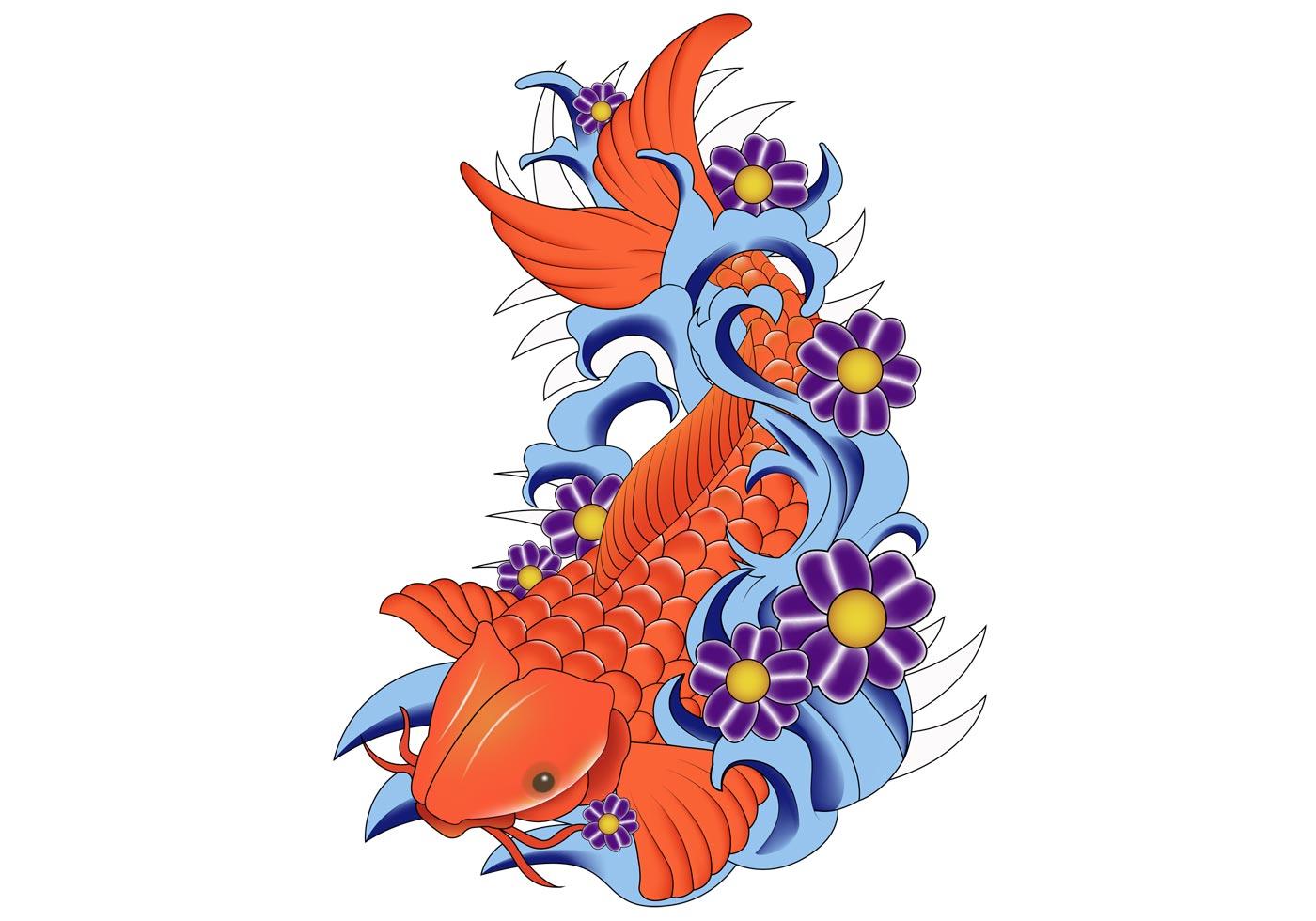 Cute Dolphin Drawing Wallpaper Koi Fish Vector Free Vector Art At Vecteezy