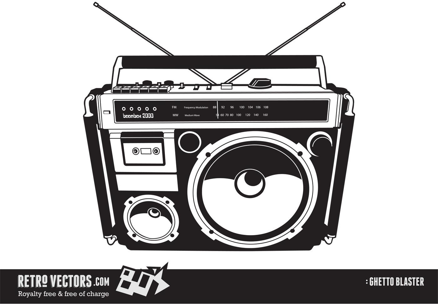 80 S Boom Box Ghetto Blaster