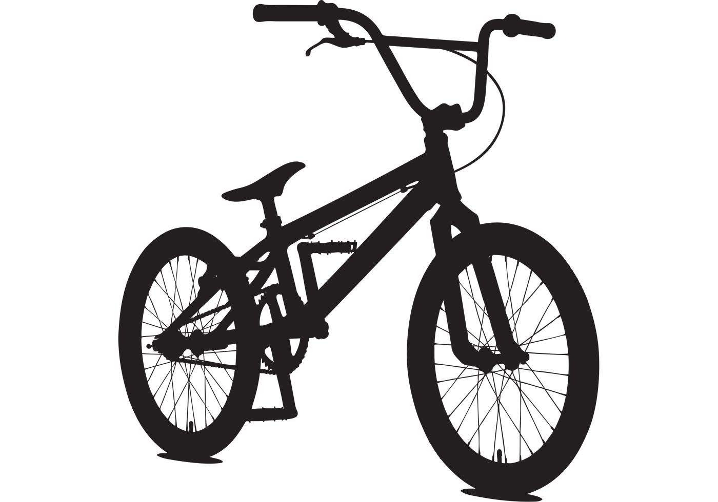 Bicycle Vector Sillouette