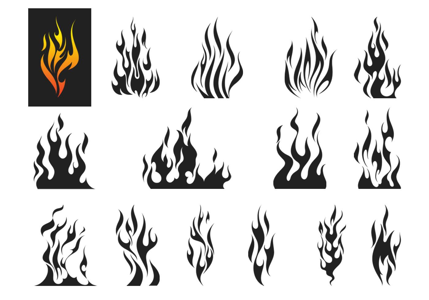 Fire Flames Vector Set