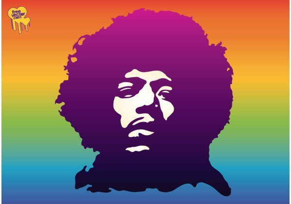 Jimi Hendrix - Free Vector Art Stock Graphics