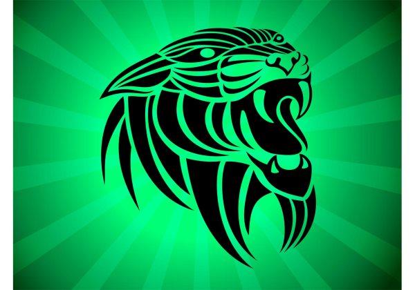 Panthera Tribal Vector - Free Art Stock