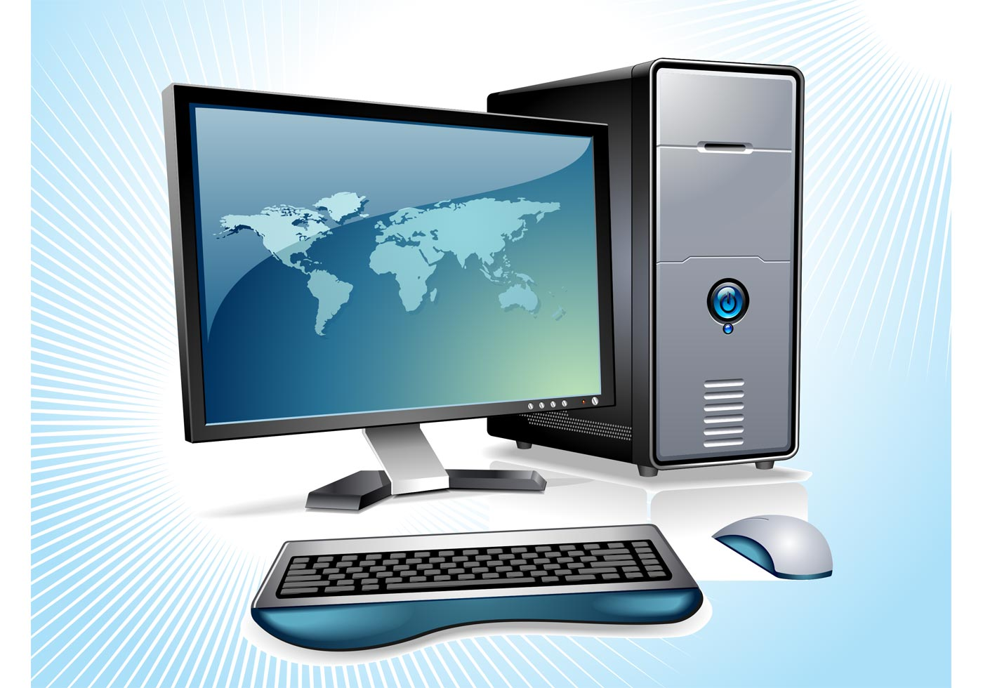 Desktop Computer Vector  Download Free Vector Art Stock
