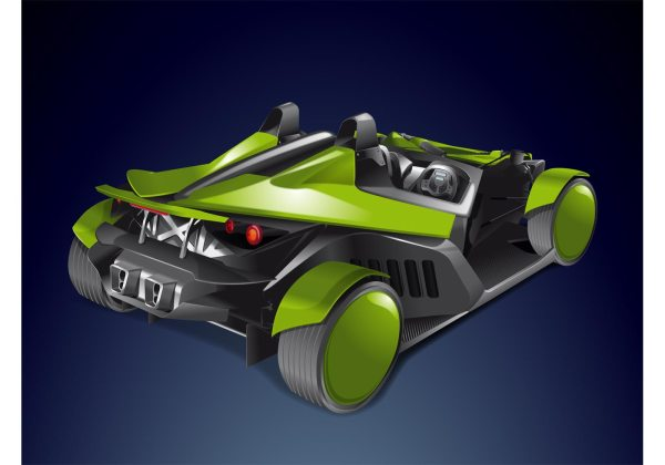 Roadster Race Car Vector - Free Art Stock