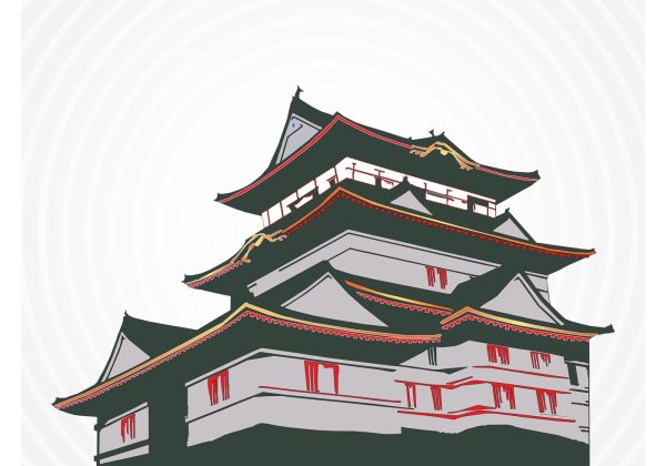 Japanese House - Free Vector Art Stock Graphics &