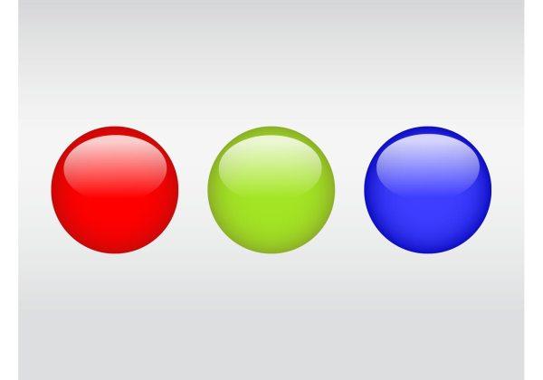 Shiny Colorful Balls - Free Vector Art Stock