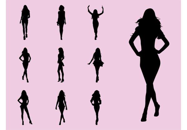 Fashion Model Walking Pose