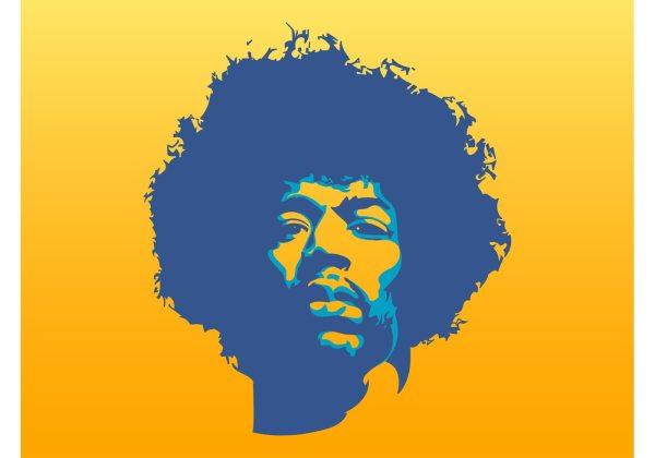 Jimi Hendrix Vector - Free Art Stock