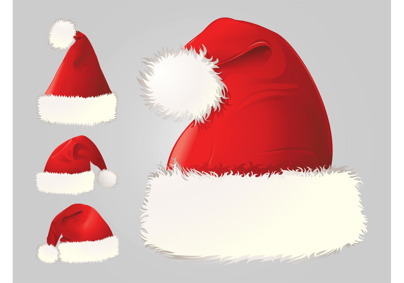 Santa Hats Vector Download Free Vector Art Stock