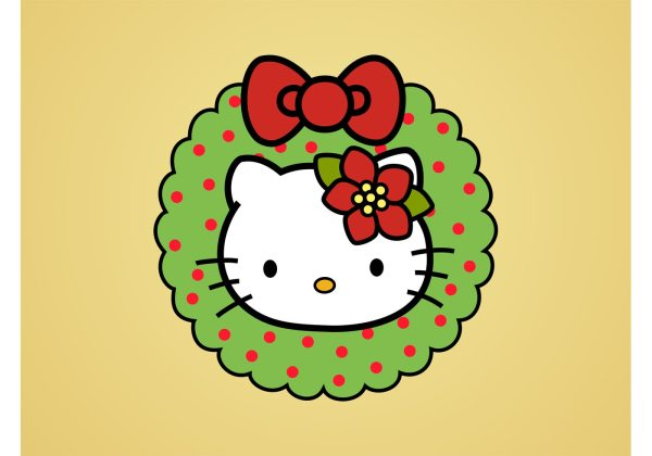 Kitty Christmas - Free Vector Art Stock