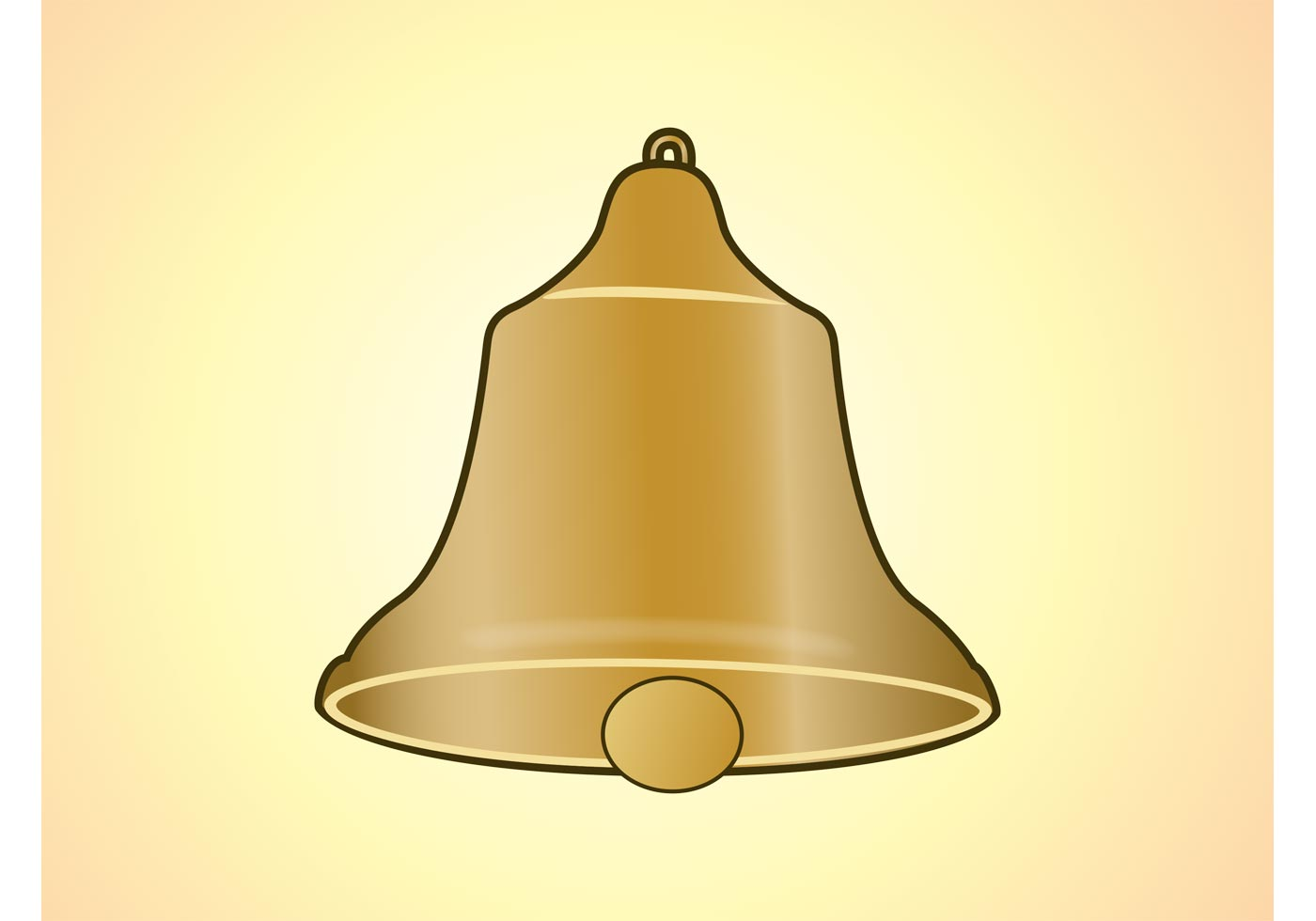 Golden Bell Vector Download Free Vector Art Stock