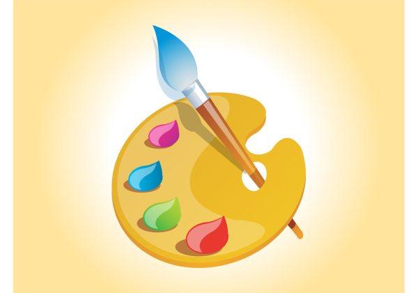 Painter Palette Vector - Free Art Stock