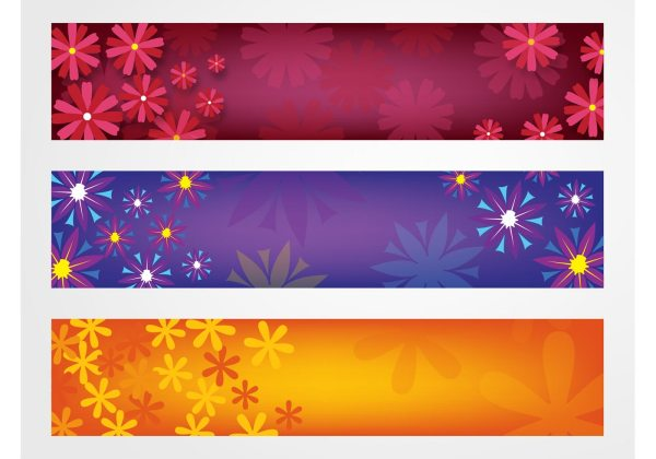 Flowers Banners Vector - Free Art Stock