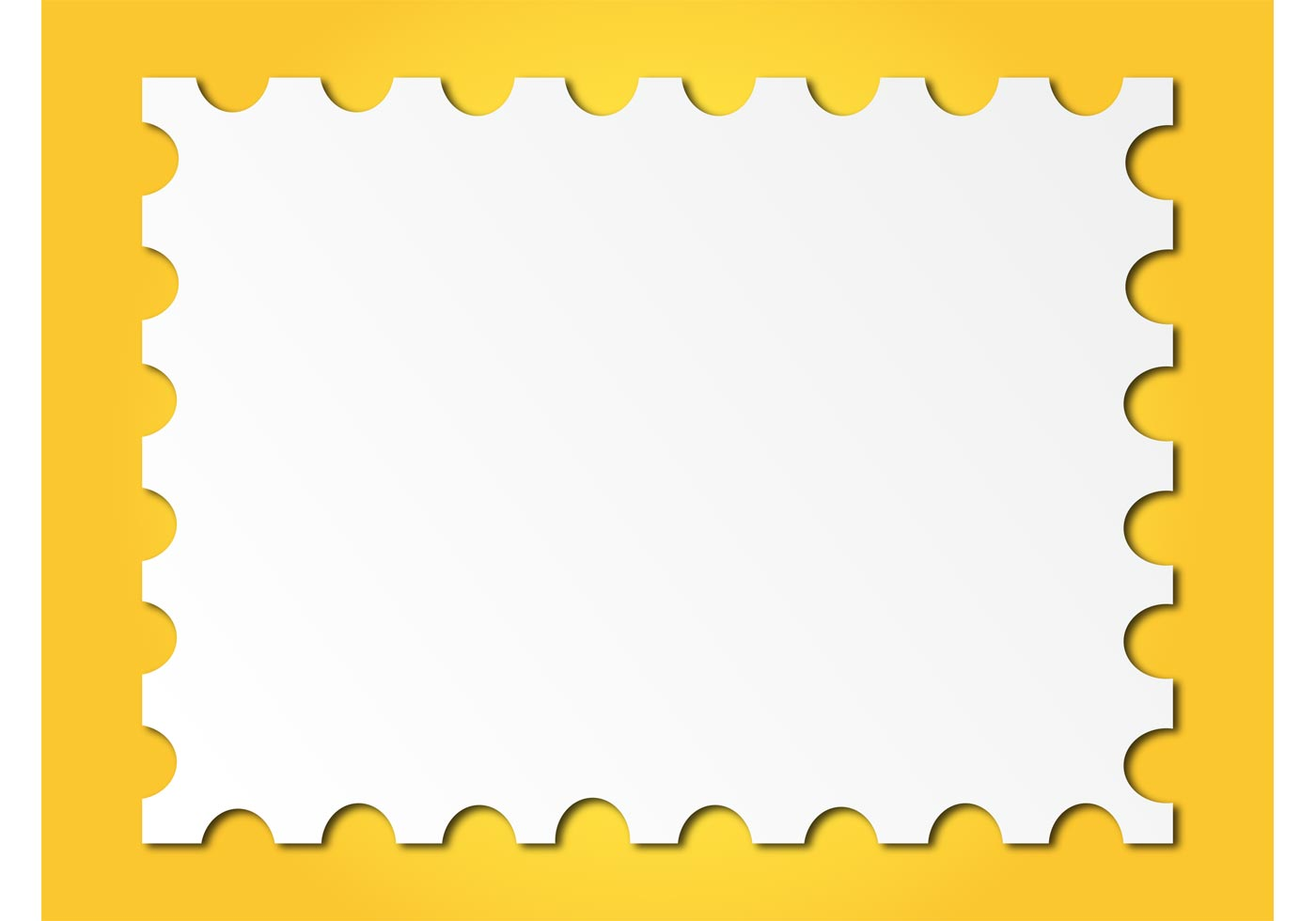 Post Stamp Frame Download Free Vector Art Stock