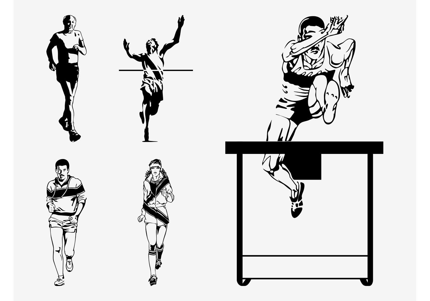 Athlete Free Vector Art