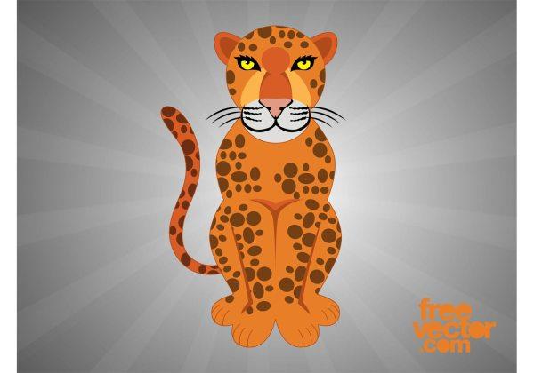 Cartoon Leopard - Free Vector Art Stock Graphics