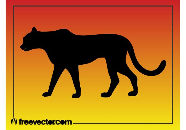 Black Panther Silhouette - Free Vector Art Stock
