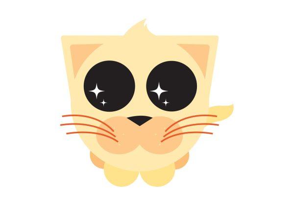 Cute Cartoon Kitty - Free Vector Art Stock