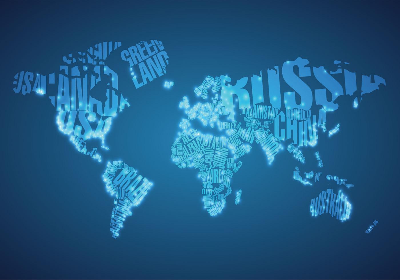 Cute World Map Wallpaper Big City Lights On World Map Vector Download Free Vector