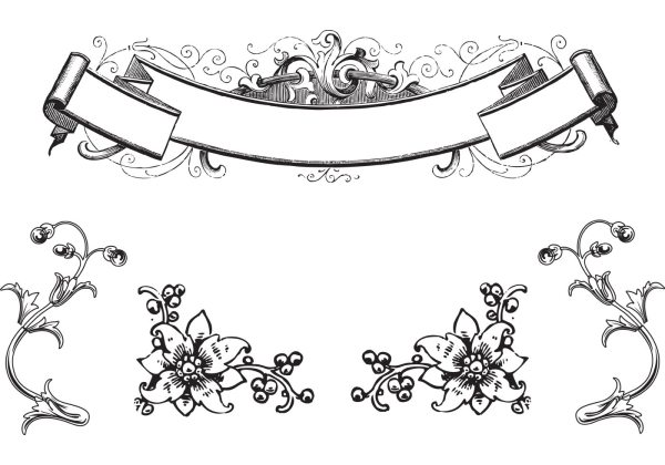 Free Vector Vintage Scroll Clip Art