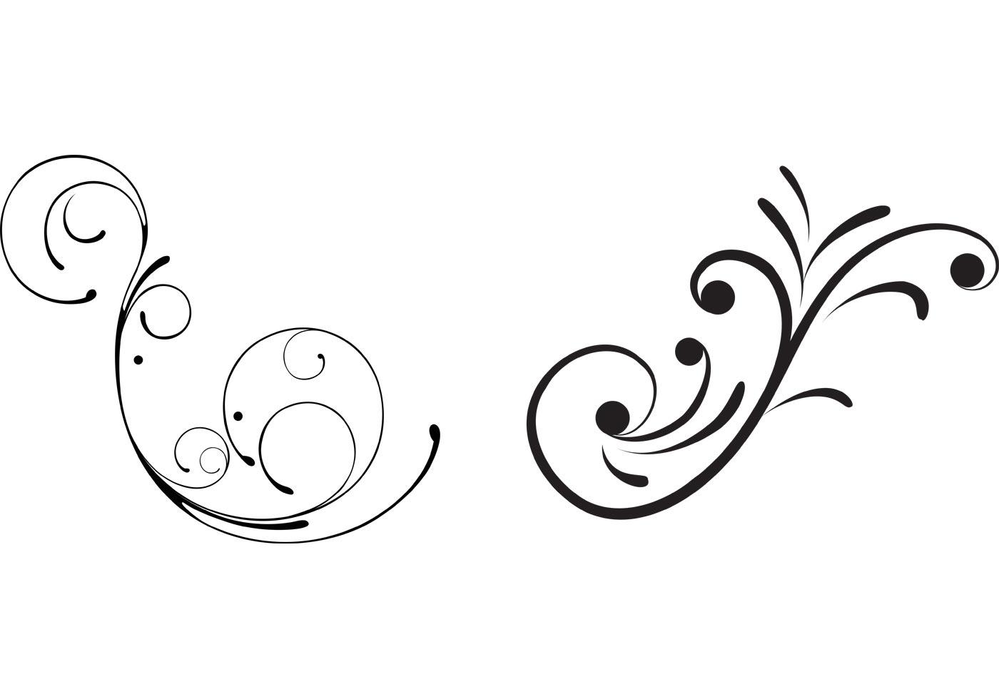Free Swirly Floral Scrolls Vectors