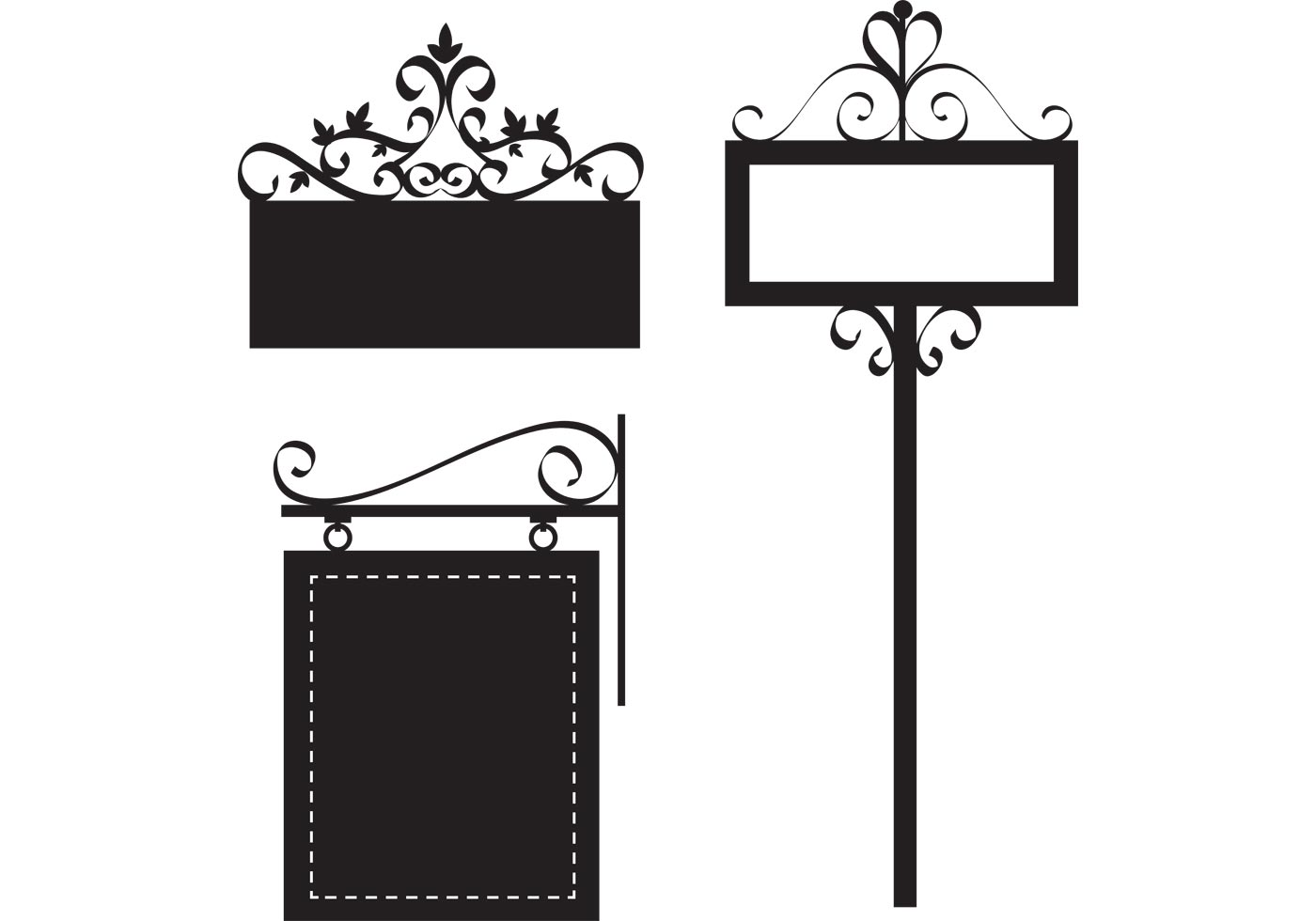 Free Ornate Sign Vectors
