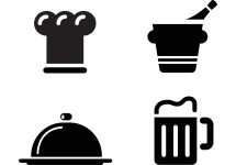 Restaurant Icons Vector Free