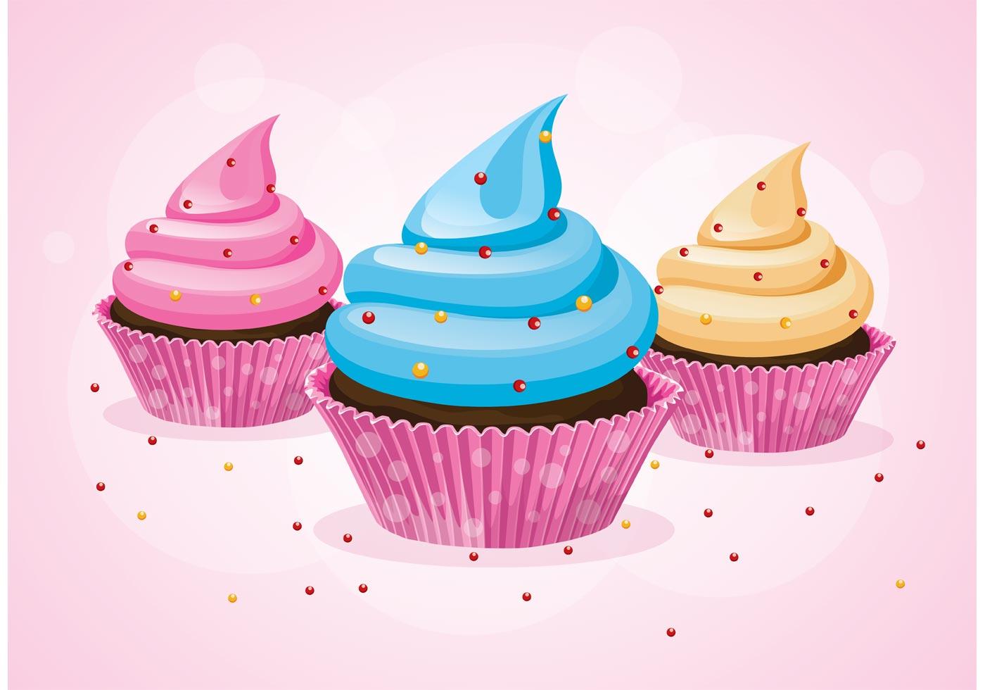 Cute Animated Cupcake Wallpaper Cupcake Vectors Download Free Vector Art Stock Graphics