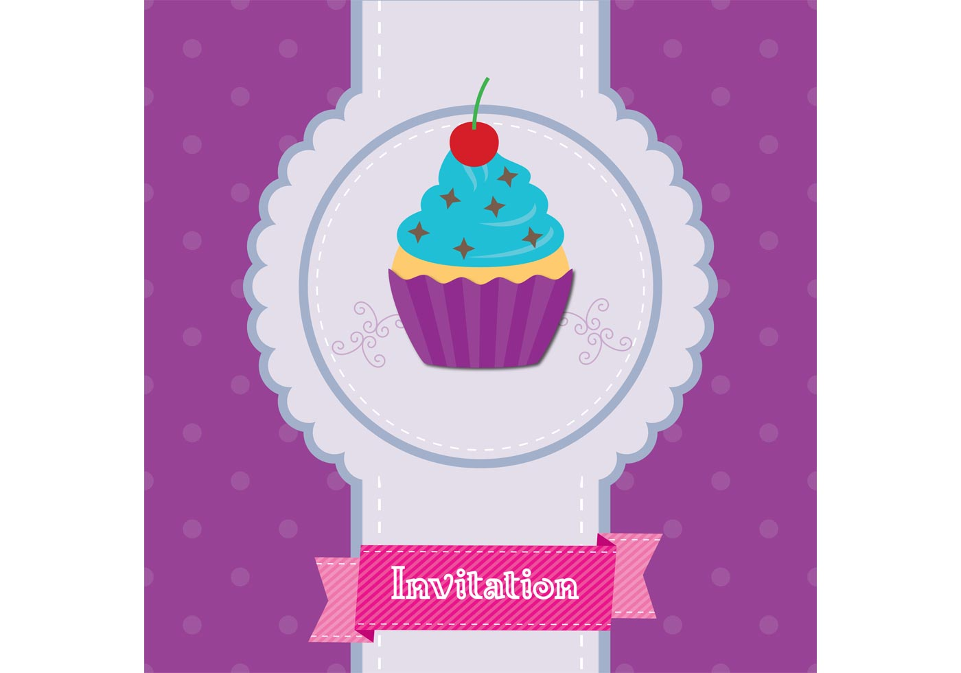 Cupcake Invitation Vector Download Free Vectors Clipart