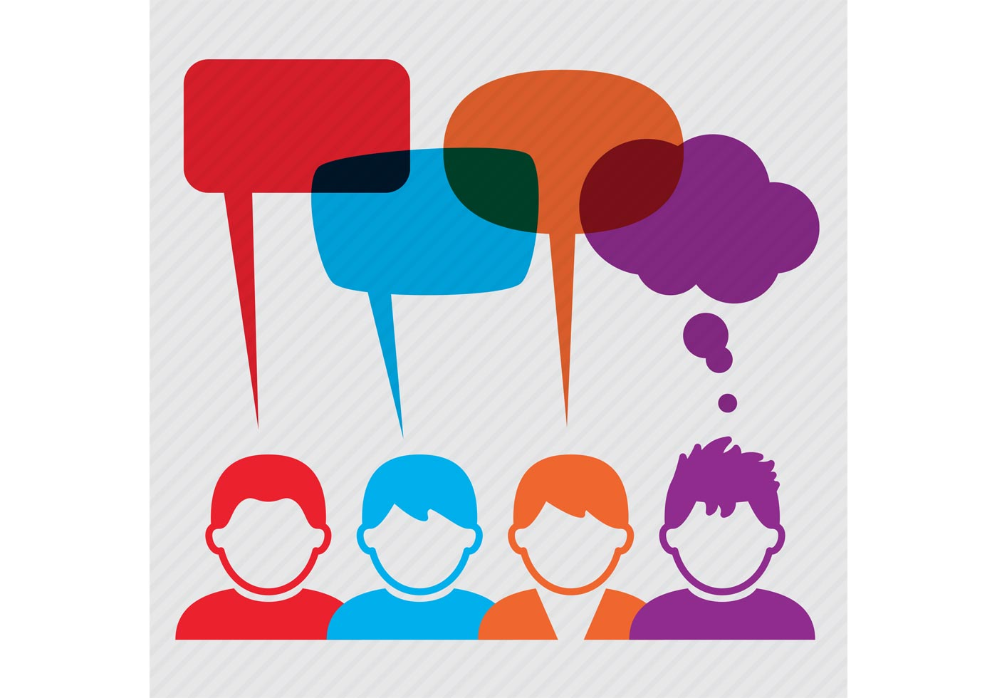 People Vectors with Speech Bubbles  Download Free Vector