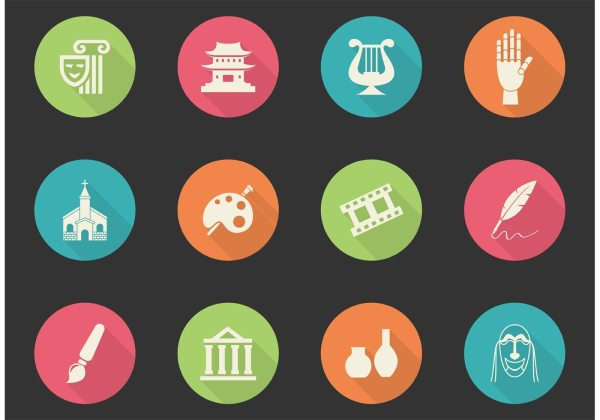 Free Arts And Culture Vector Icons - Art Stock Graphics &