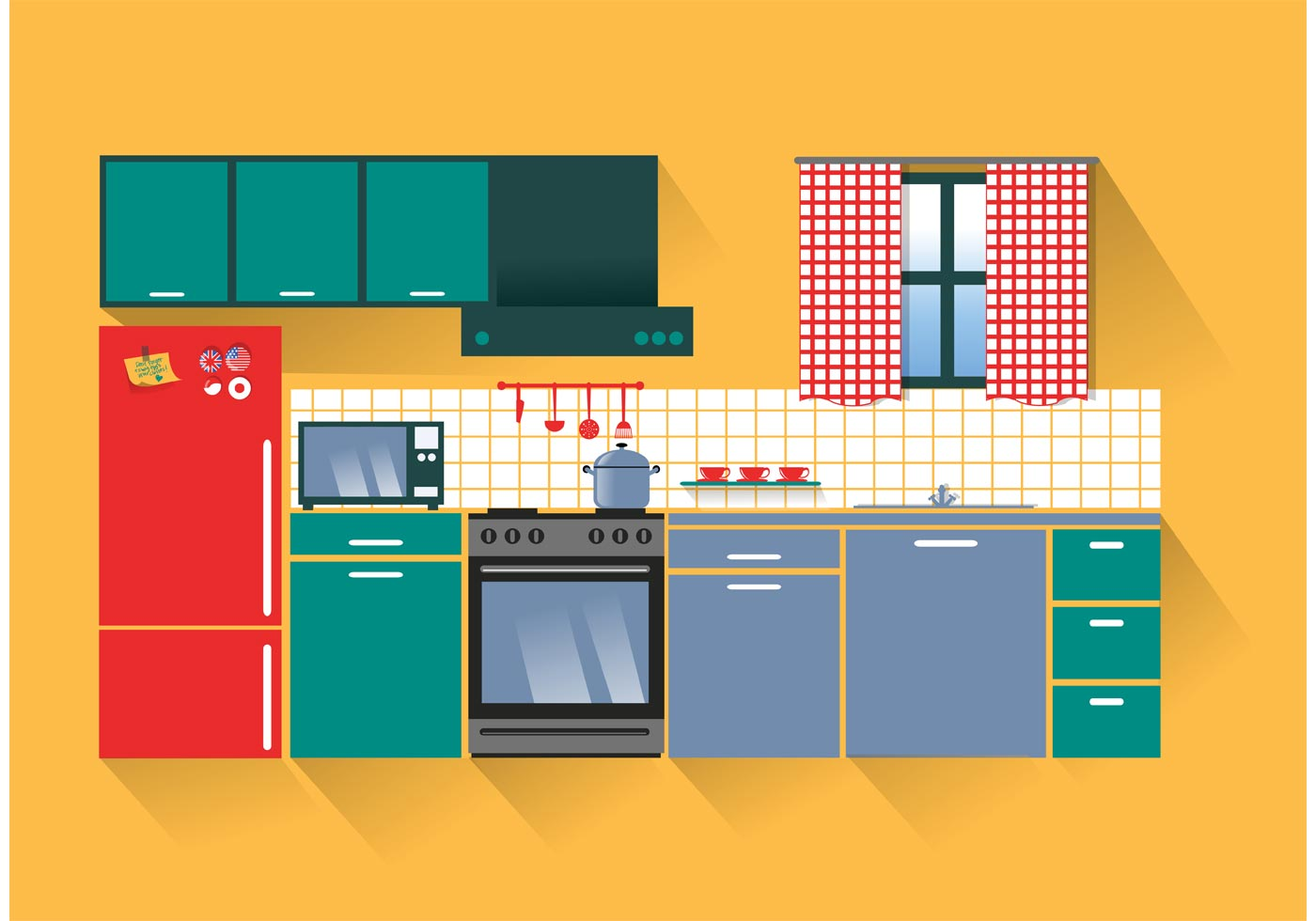 Modern Kitchen Vector Download Free Vector Art Stock