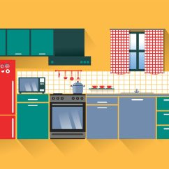 Easy Kitchen Design Software Free Download Aid Service Modern Vector Art Stock