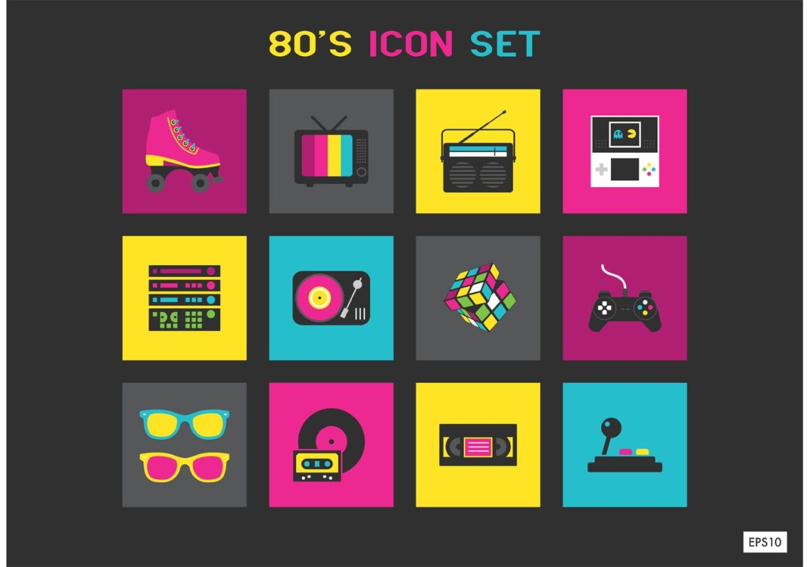 Download 80s Icons Free Vector Art - (296 Free Downloads)