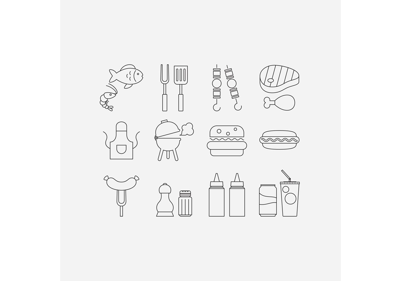 Camp Food Vector Line Icons Download Free Vector Art