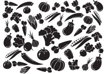 vegetables vegetable vector pattern silhouette veggies vegetarian vectors tomato veggie garden graphics corn organic
