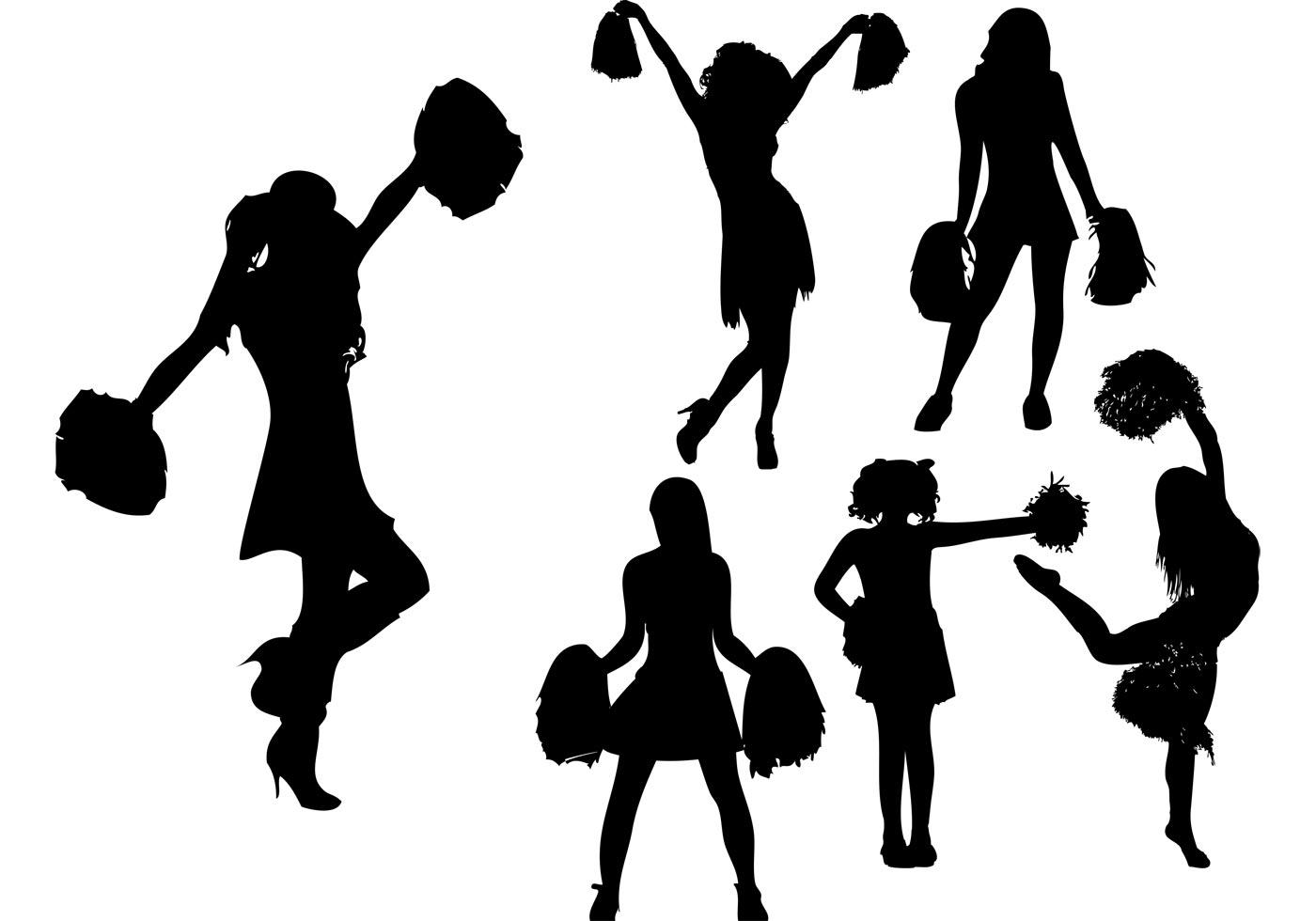 Cheerleader Silhouette Vectors