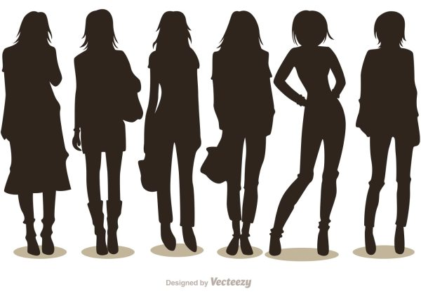 Free Vector Woman Fashion Silhouettes