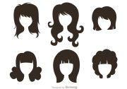 black silhouette woman with hairstyles