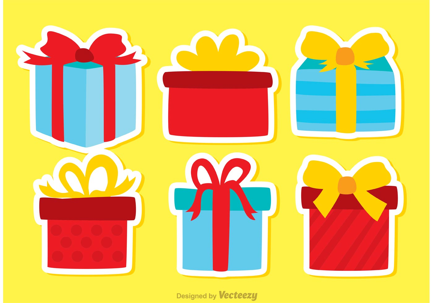 Gift Box Birthday Icon Vectors Pack Download Free Vector