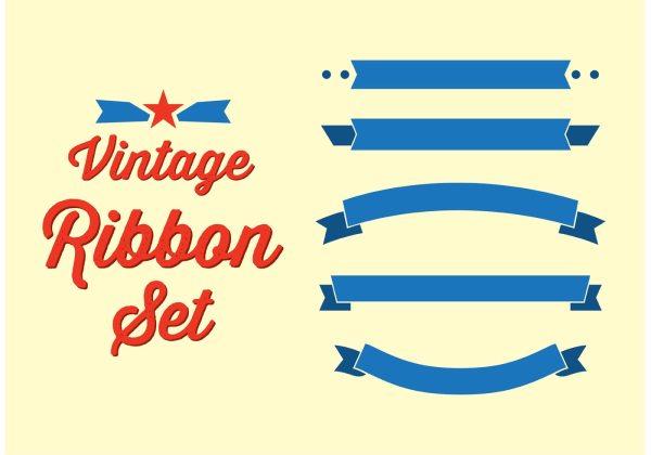 Vintage Ribbon Set - Free Vector Art Stock