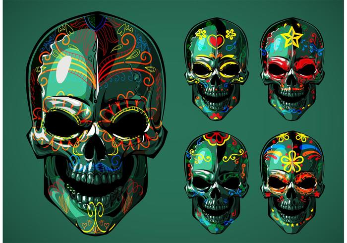 Skeleton Pattern Wallpaper Cute Dia De Los Muertos Sugar Skull Vectors Download Free
