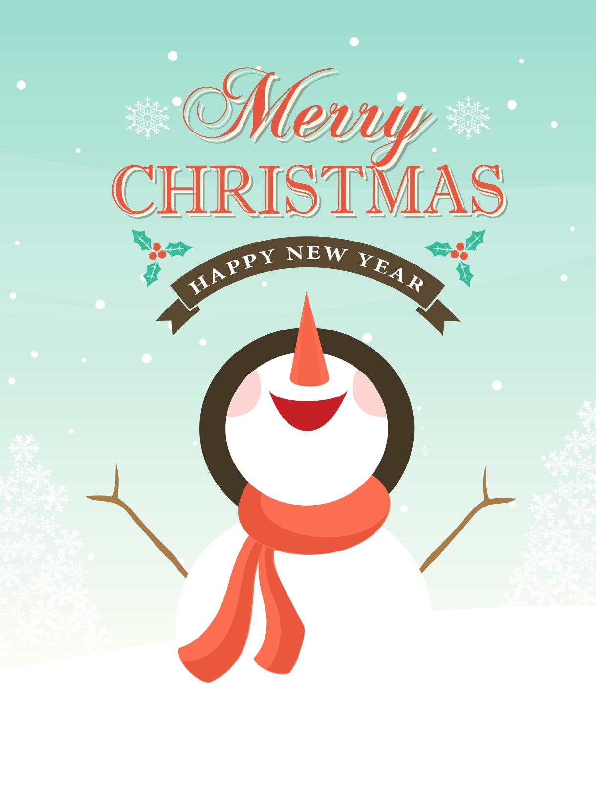 Cute Snowman Christmas Wallpaper Free Vector Snowman Christmas Background Download Free