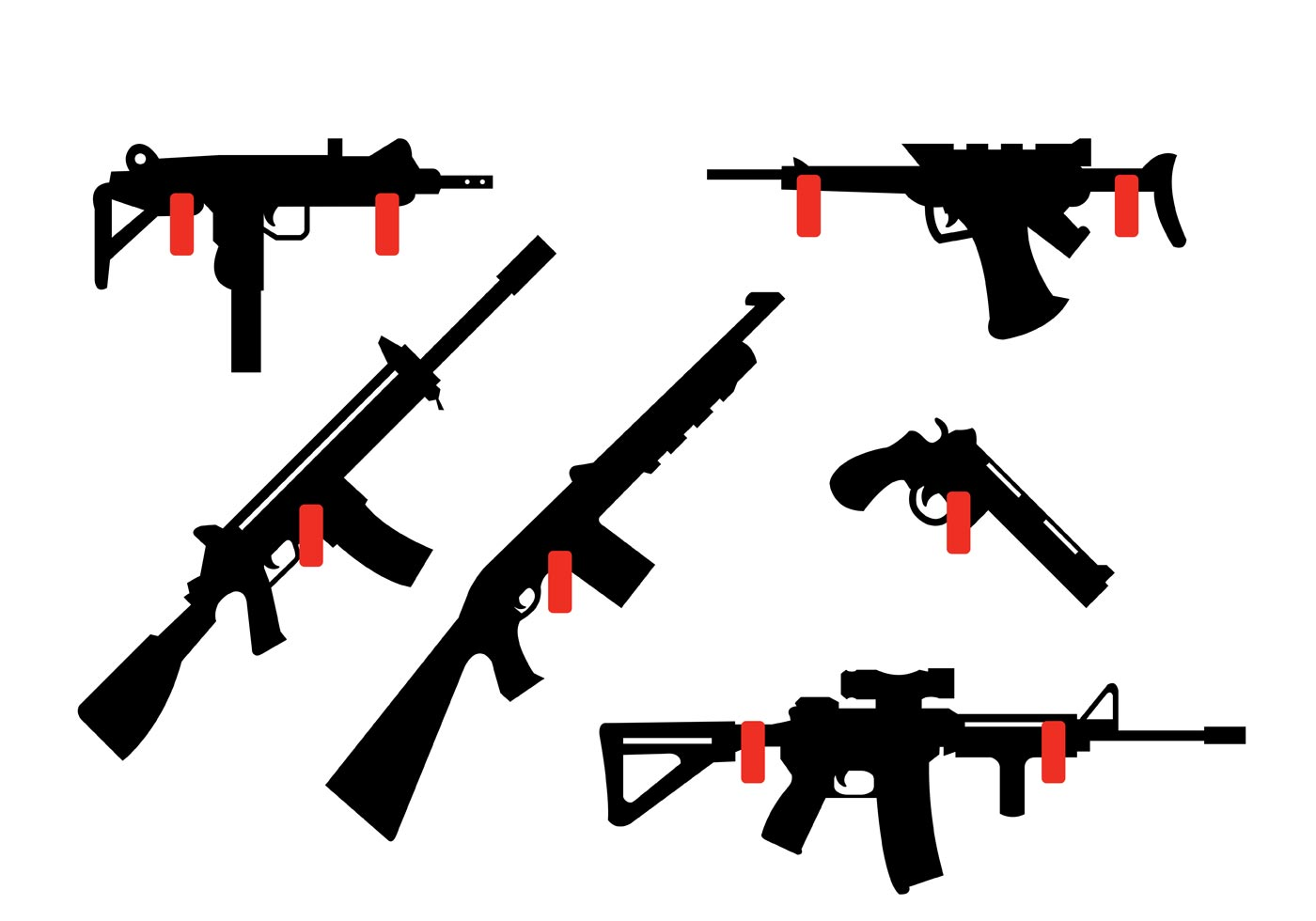 Collection of Rifles and Guns Hanging on the wall